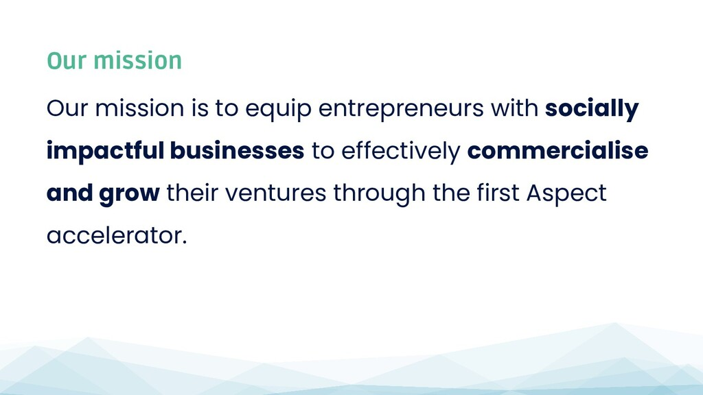 Our mission is to equip entrepreneurs with soci...