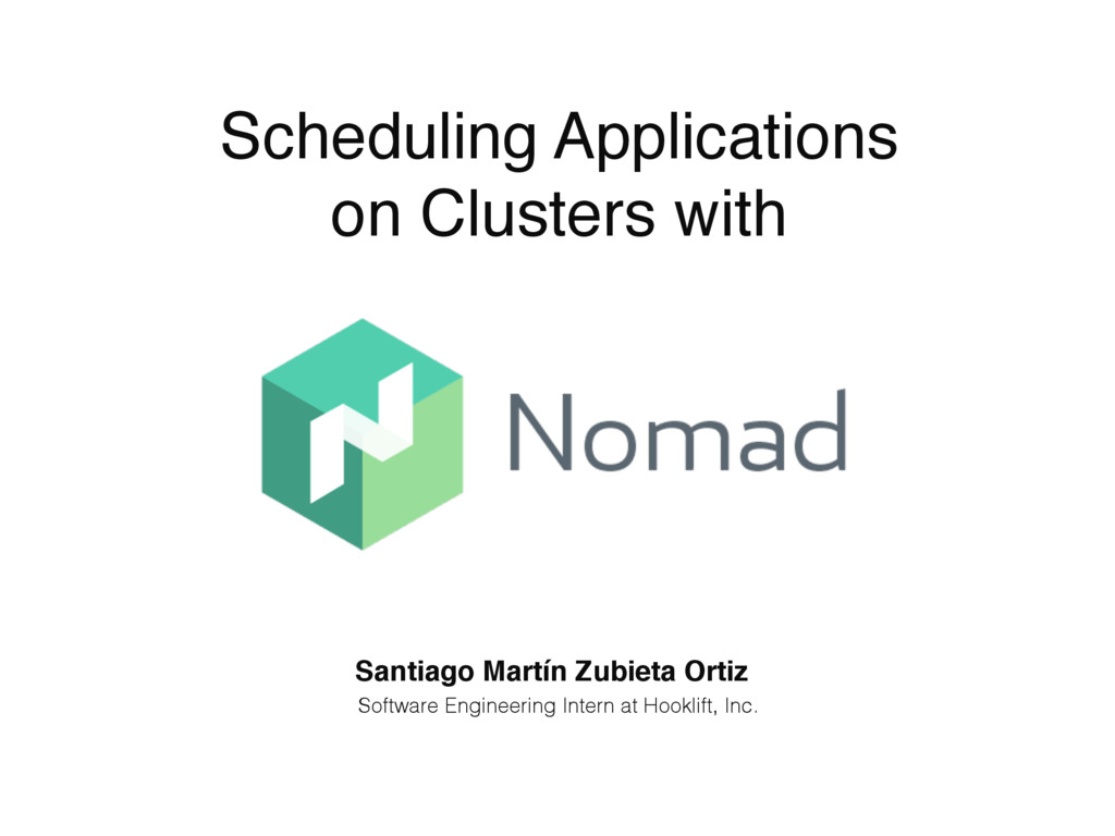 Scheduling Applications on Clusters with Santia...