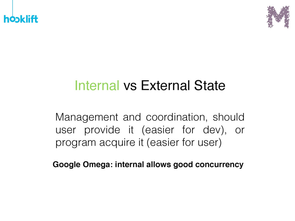 Management and coordination, should user provid...