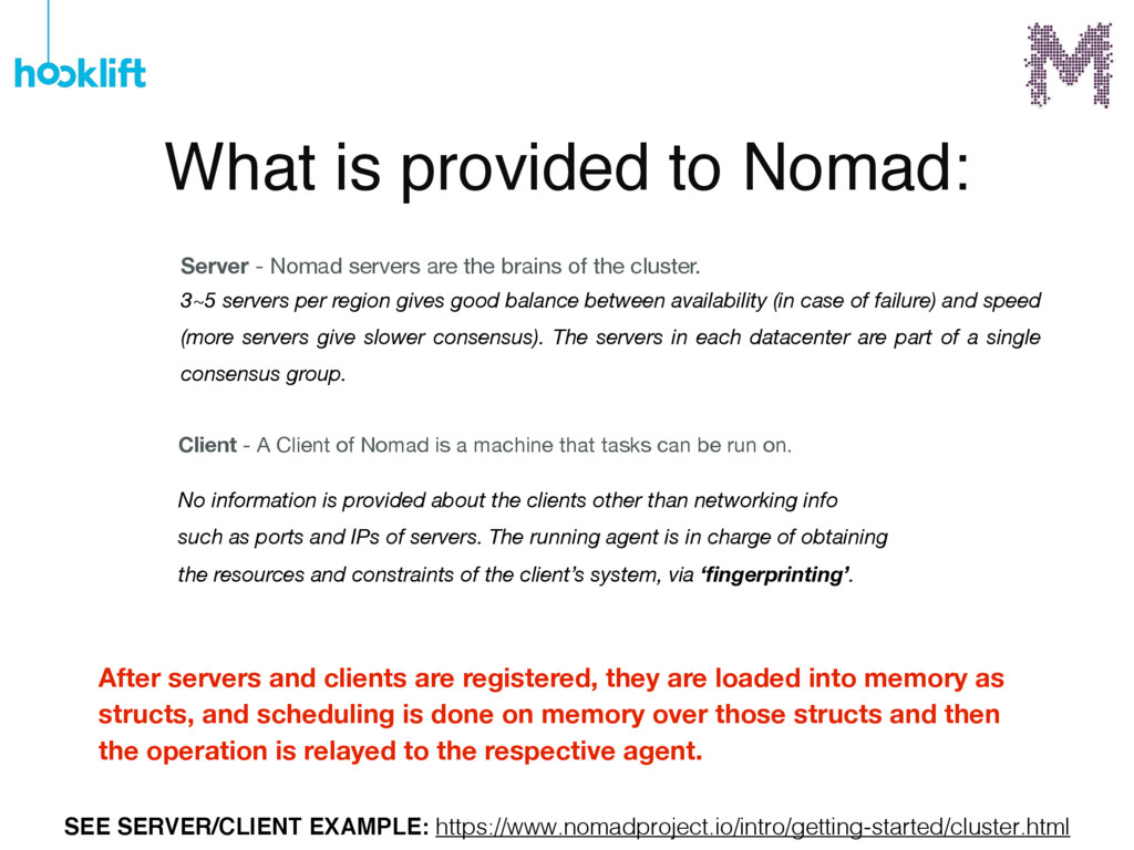 What is provided to Nomad: Client - A Client of...
