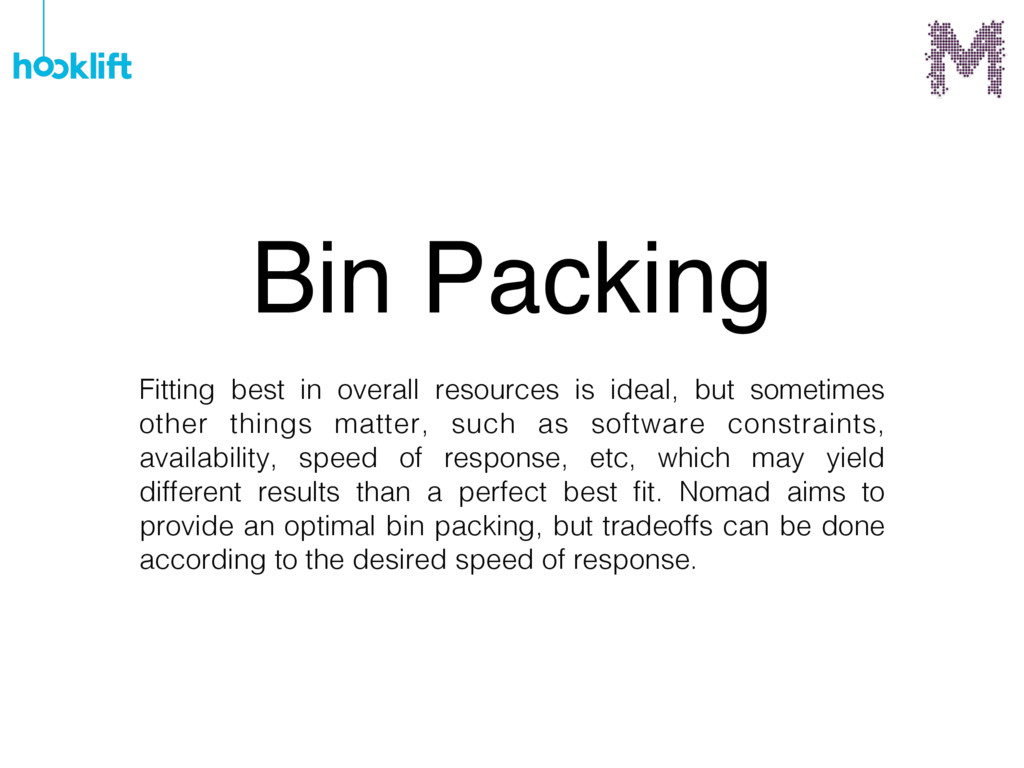 Bin Packing Fitting best in overall resources i...