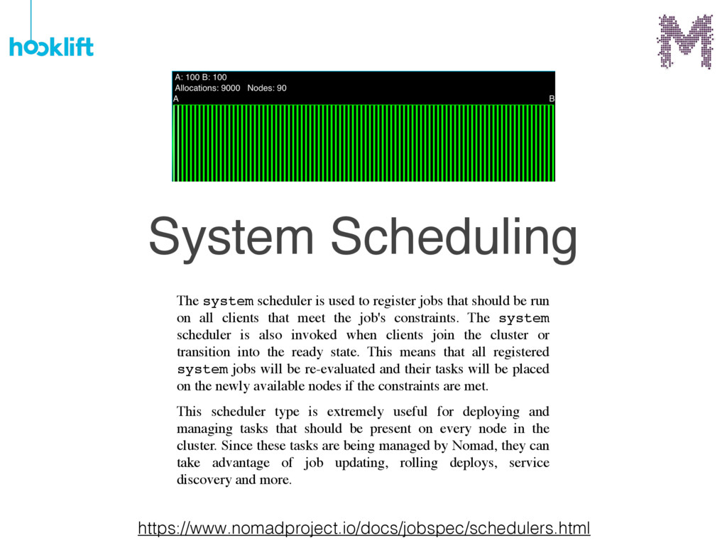 System Scheduling The system scheduler is used ...