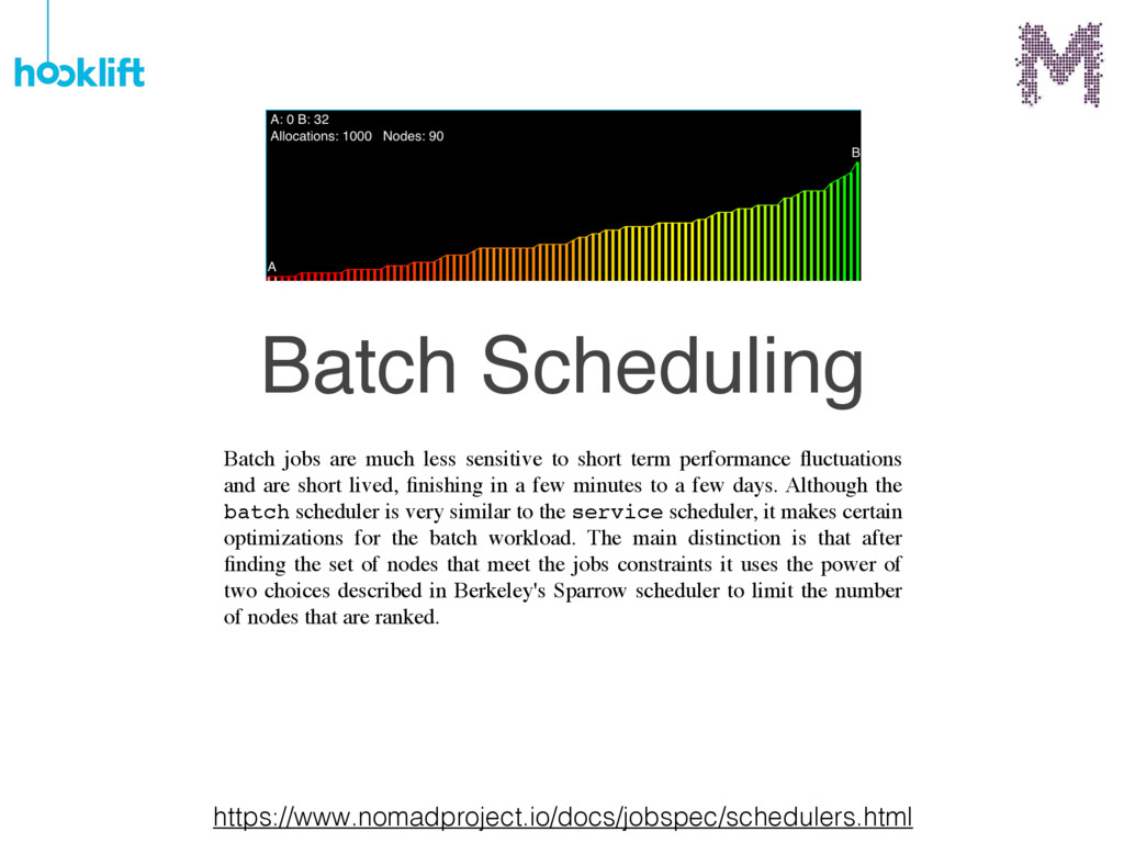 Batch jobs are much less sensitive to short ter...