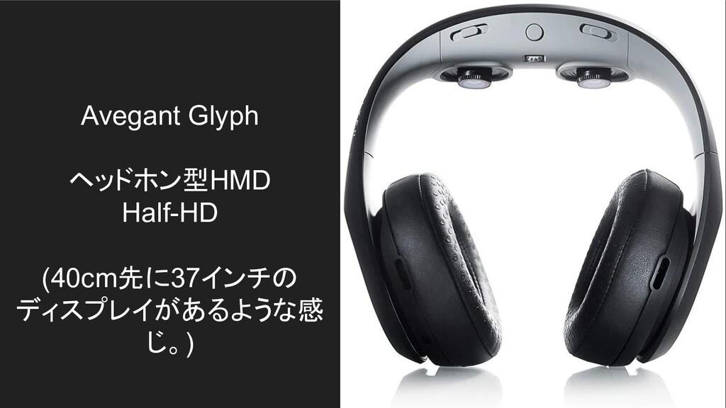 Avegant Glyph ヘッドホン型HMD Half-HD (40cm先に37インチの デ...