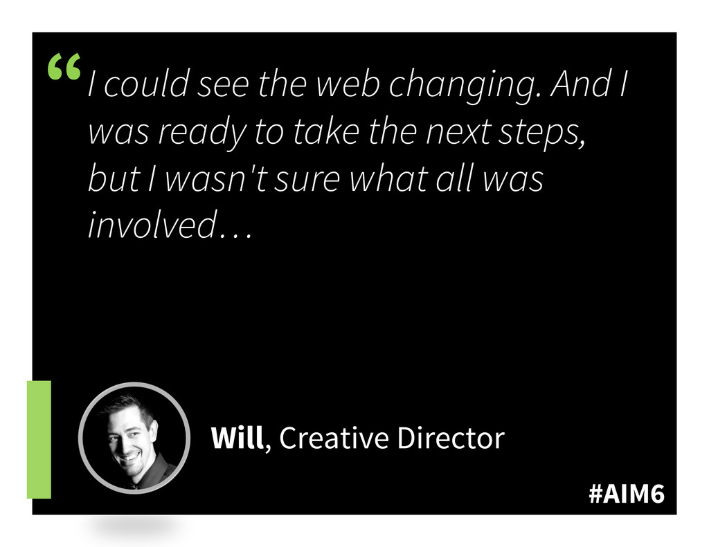 """#AIM6 """" I could see the web changing. And I was..."""
