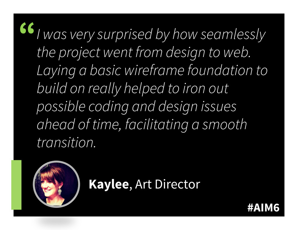 """#AIM6 """" I was very surprised by how seamlessly ..."""