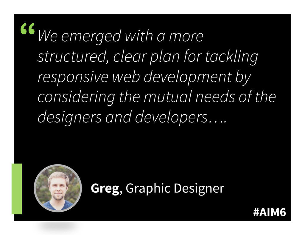 """#AIM6 """" We emerged with a more structured, clea..."""