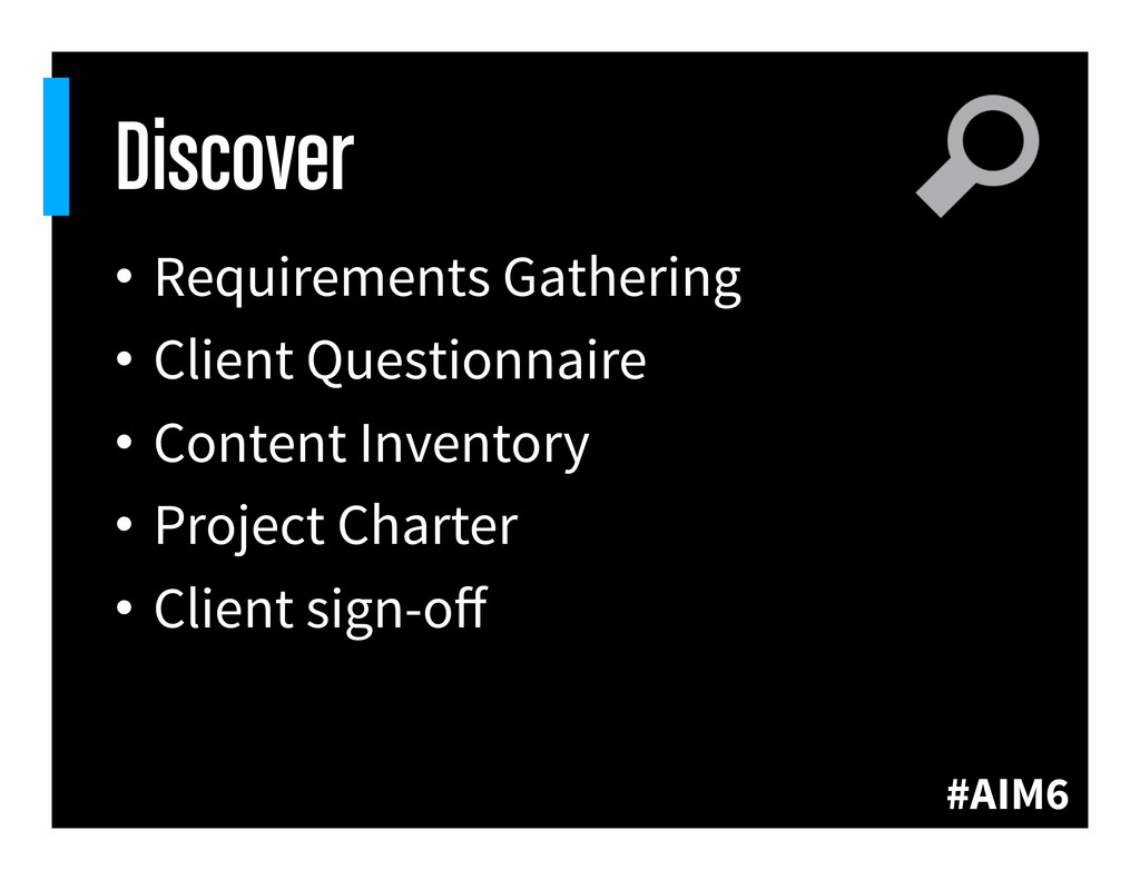 #AIM6 Discover • Requirements Gathering • Cli...