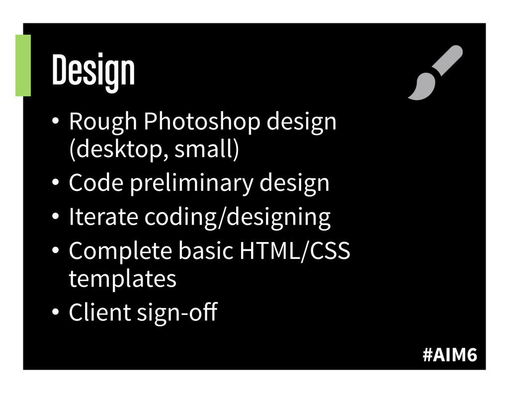 #AIM6 Design • Rough Photoshop design (desktop...