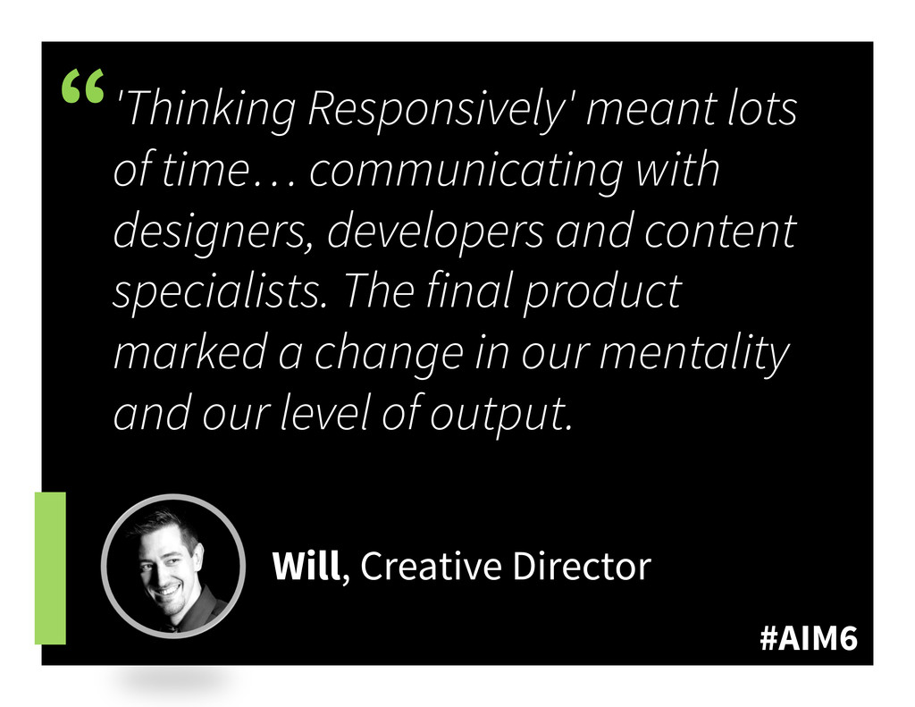 """#AIM6 """" 'Thinking Responsively' meant lots of t..."""