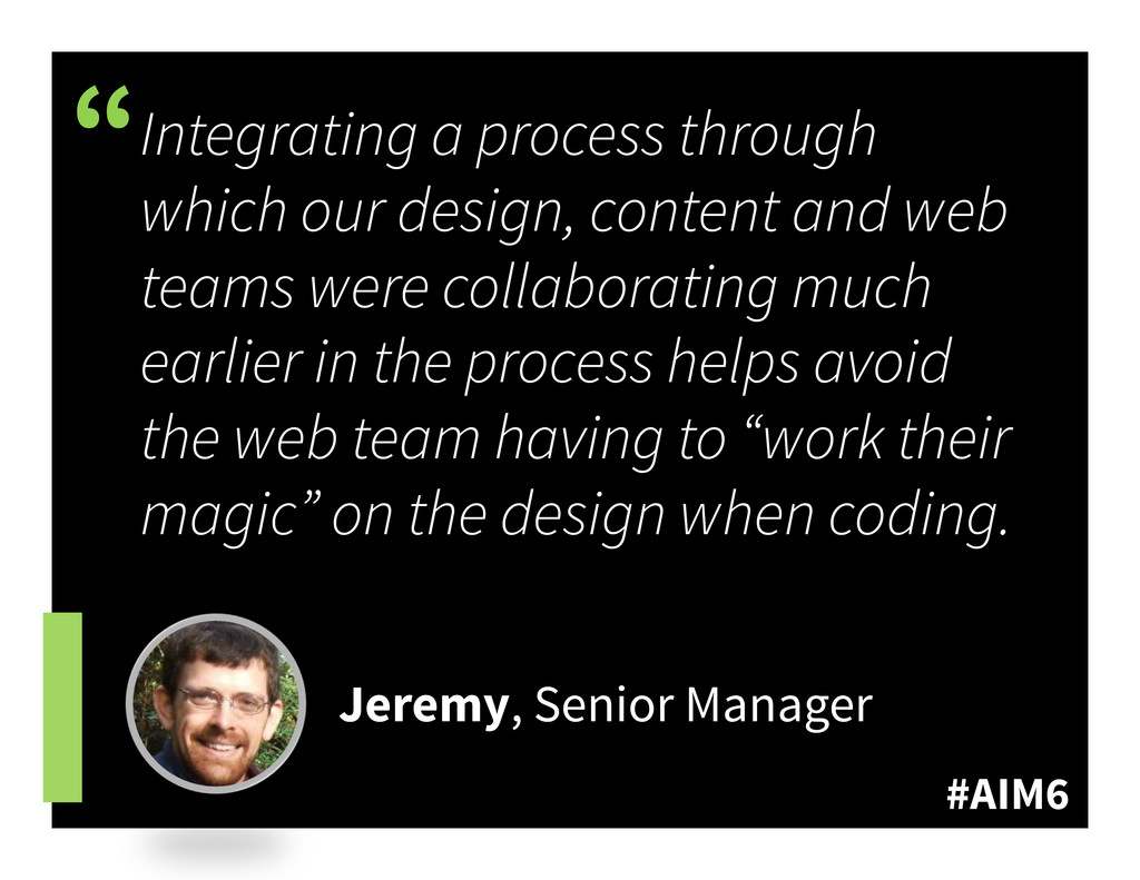 """#AIM6 """" Integrating a process through which our..."""
