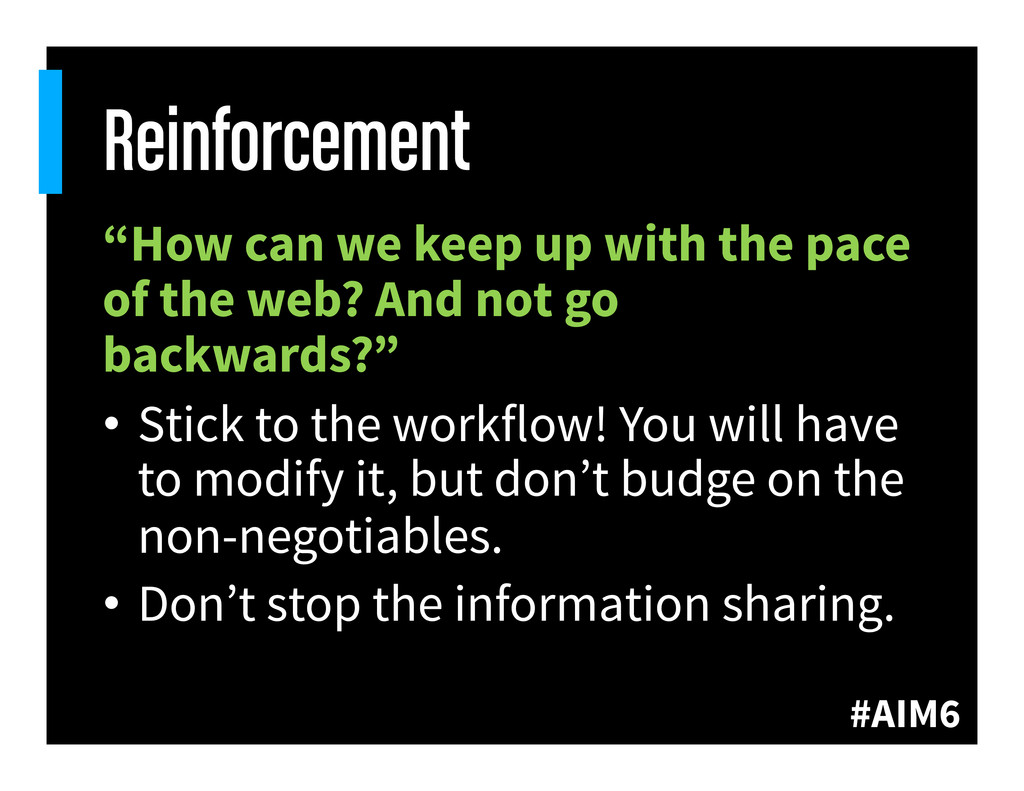 """#AIM6 Reinforcement """"How can we keep up with th..."""