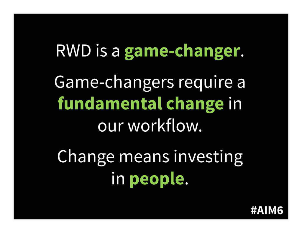 #AIM6 RWD is a game-changer. Game-changers requ...