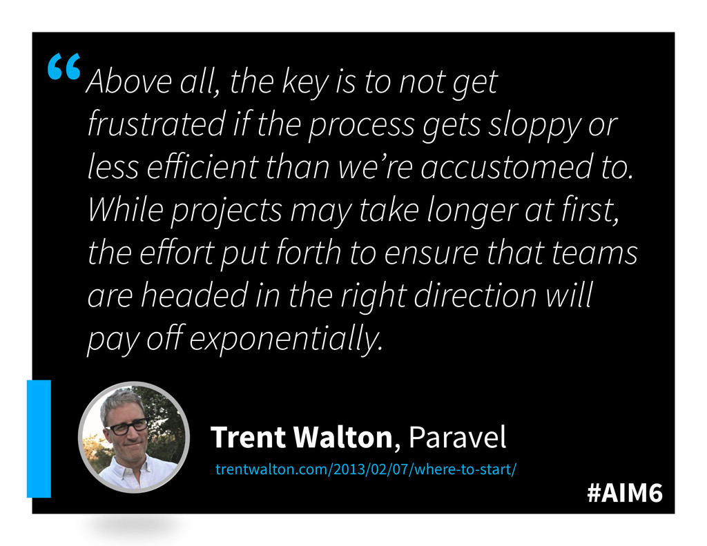 """#AIM6 """" Above all, the key is to not get frustr..."""