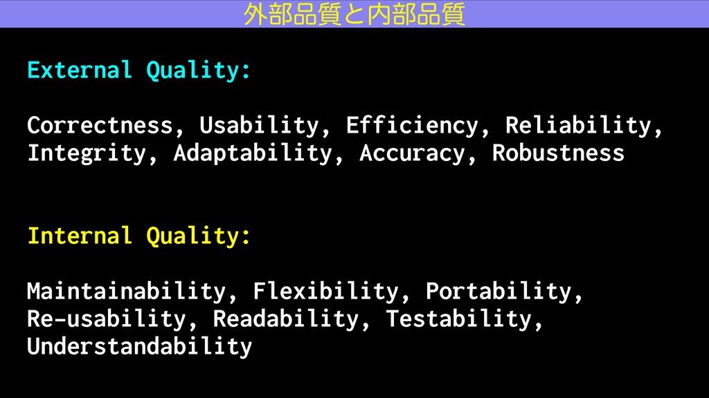 External Quality: Correctness, Usability, Effic...