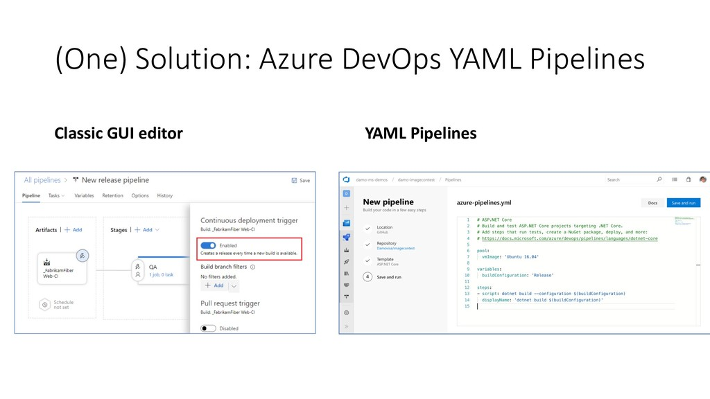 (One) Solution: Azure DevOps YAML Pipelines Cla...