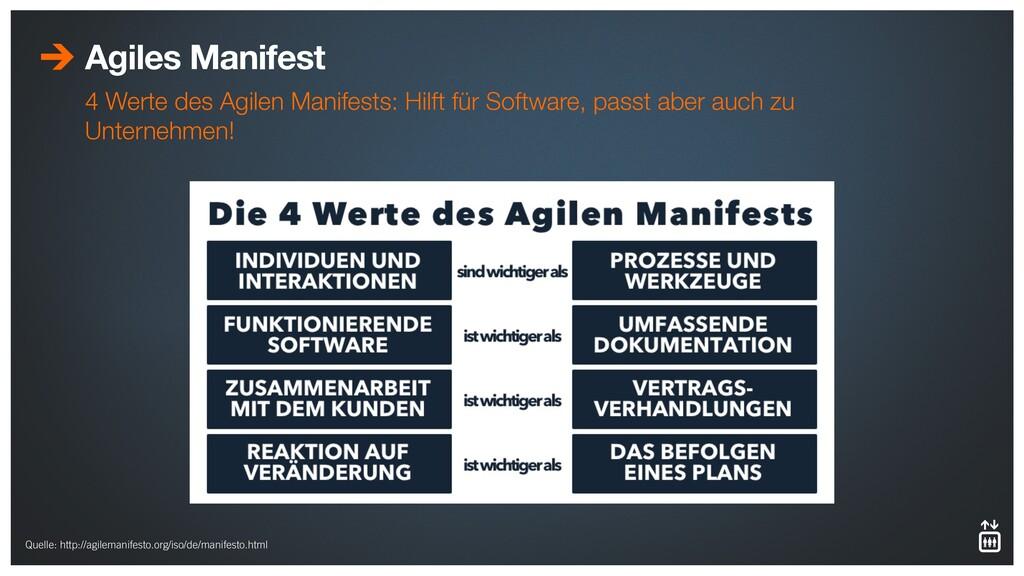 Agiles Manifest 4 Werte des Agilen Manifests: H...