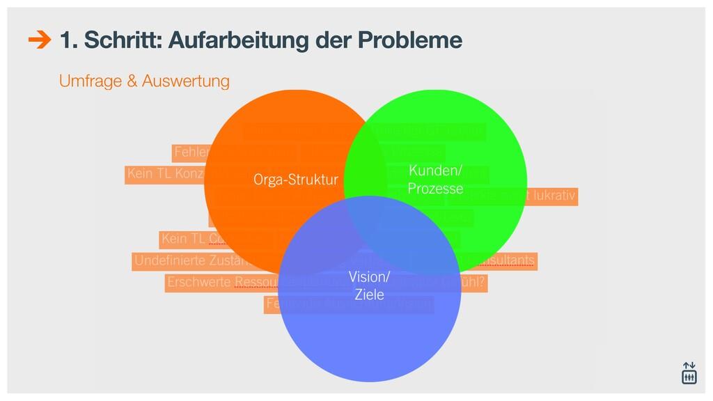 1. Schritt: Aufarbeitung der Probleme Umfrage &...
