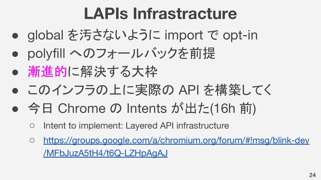 LAPIs Infrastracture ● global を汚さないように import で...