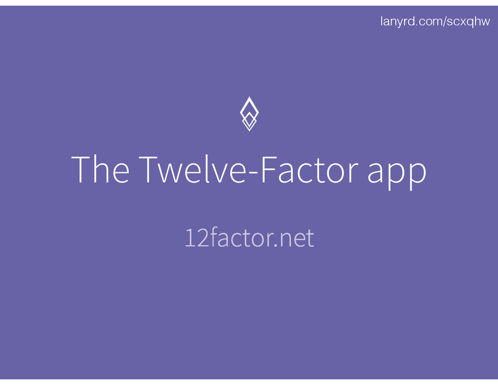 lanyrd.com/scxqhw The Twelve-Factor app 12facto...