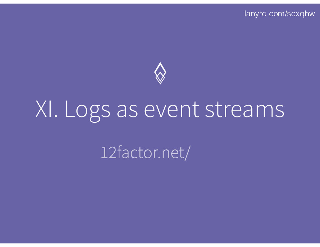 lanyrd.com/scxqhw XI. Logs as event streams 12f...