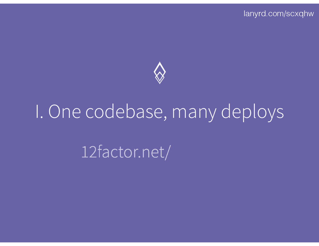 lanyrd.com/scxqhw I. One codebase, many deploys...