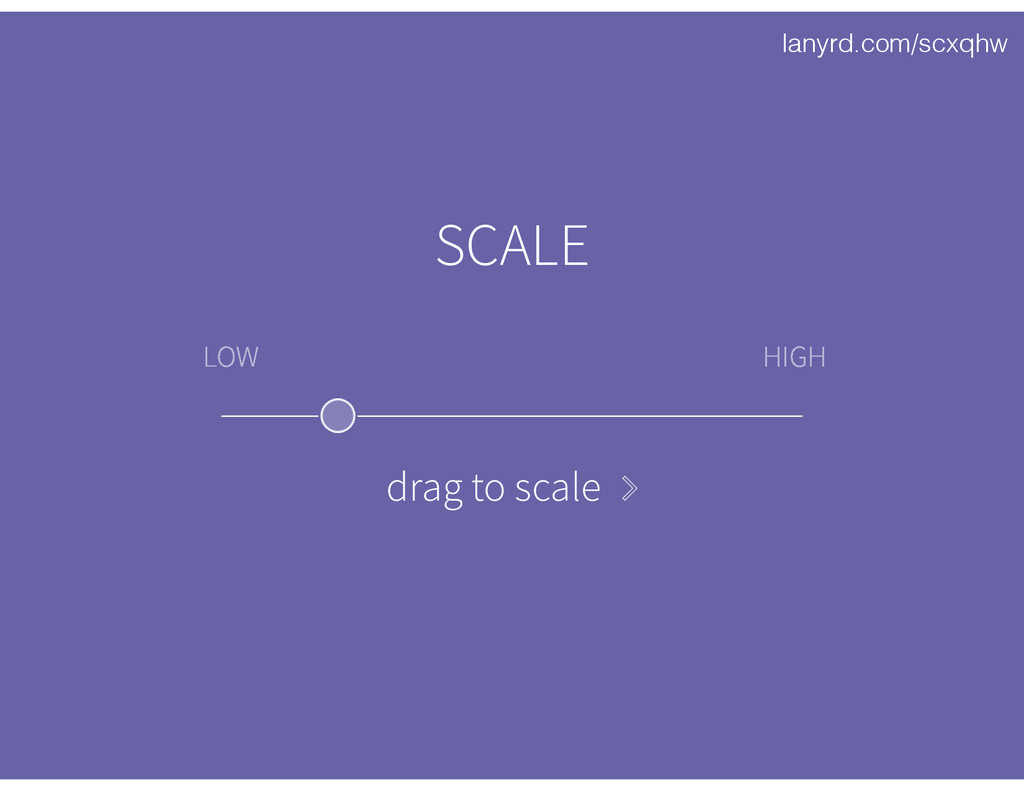 lanyrd.com/scxqhw LOW HIGH SCALE drag to scale