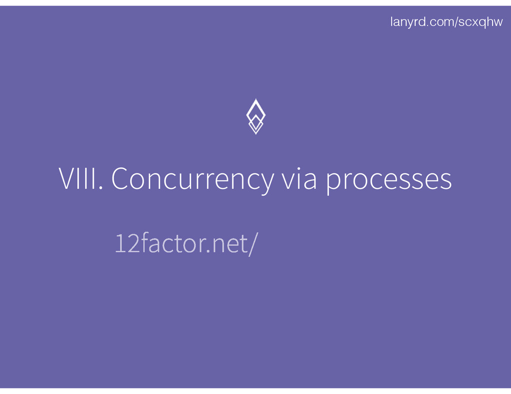 lanyrd.com/scxqhw VIII. Concurrency via process...