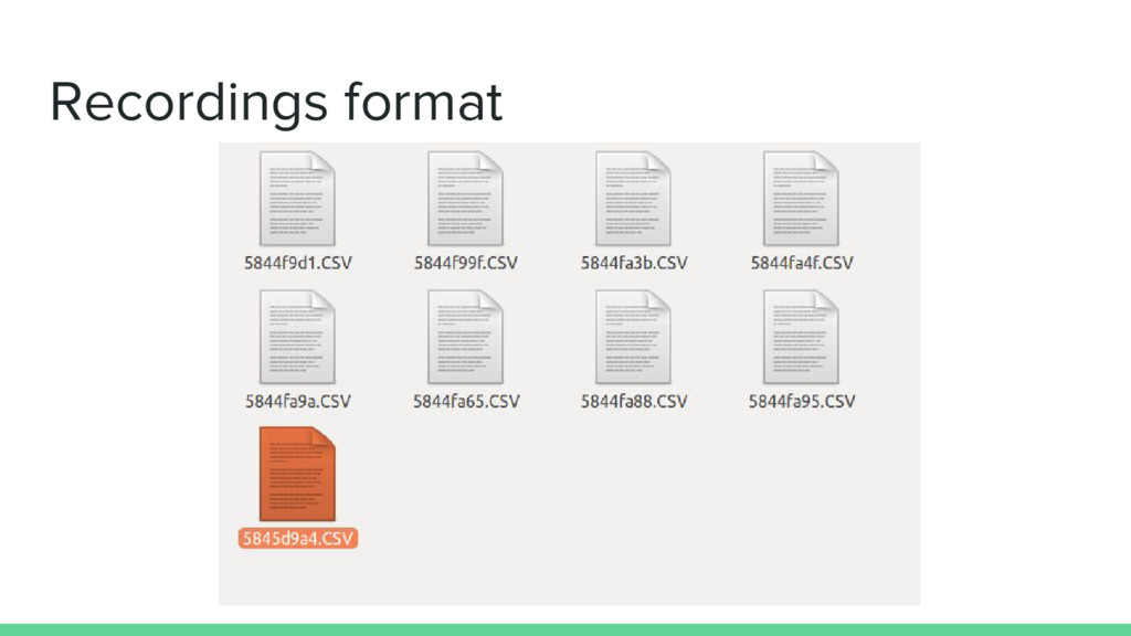 Recordings format