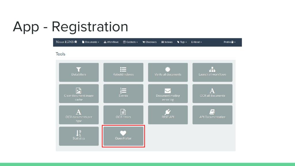 App - Registration