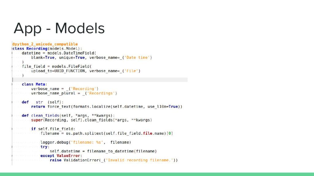App - Models