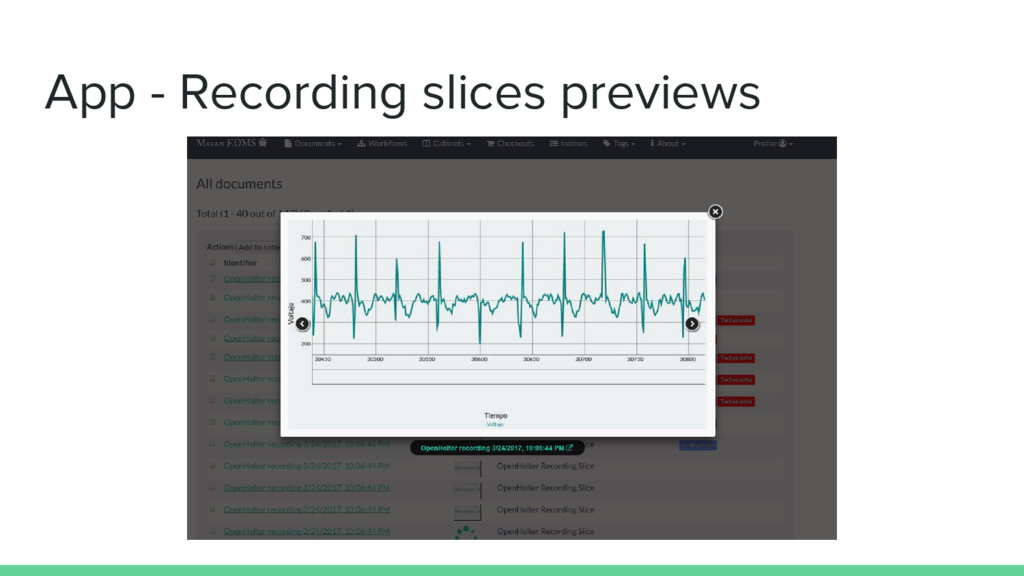 App - Recording slices previews
