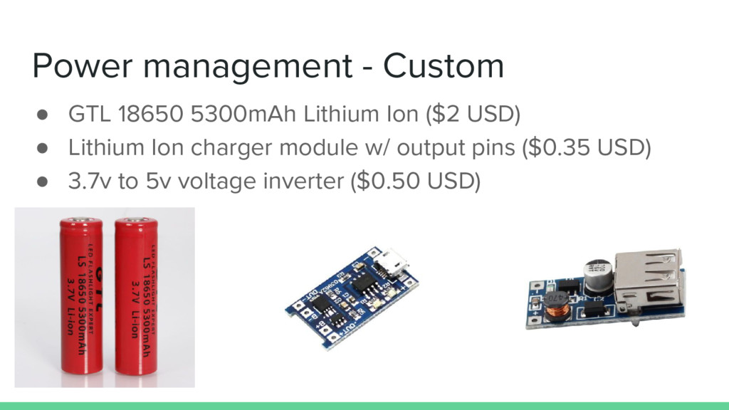Power management - Custom ● GTL 18650 5300mAh L...