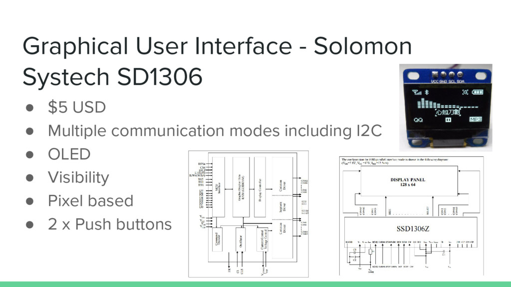Graphical User Interface - Solomon Systech SD13...