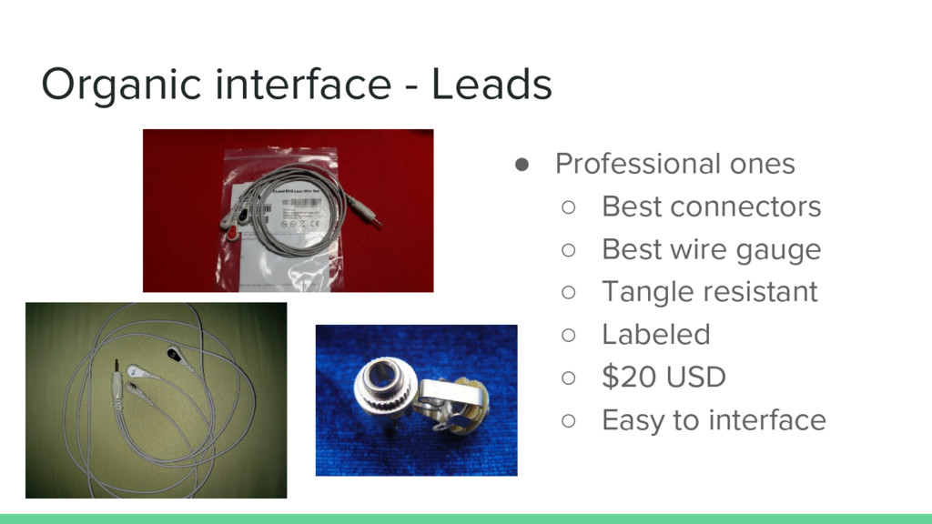 Organic interface - Leads ● Professional ones ○...