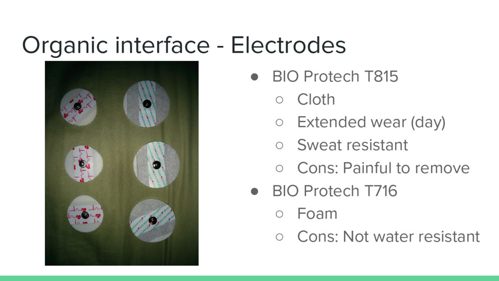 Organic interface - Electrodes ● BIO Protech T8...