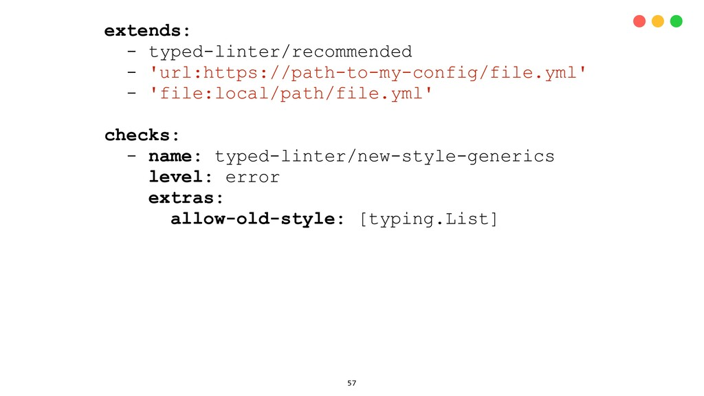 extends: - typed-linter/recommended - 'url:http...