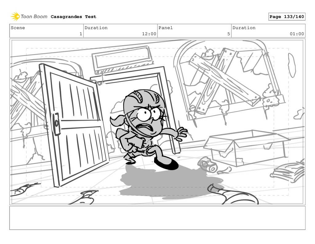 Scene 1 Duration 12:00 Panel 5 Duration 01:00 C...