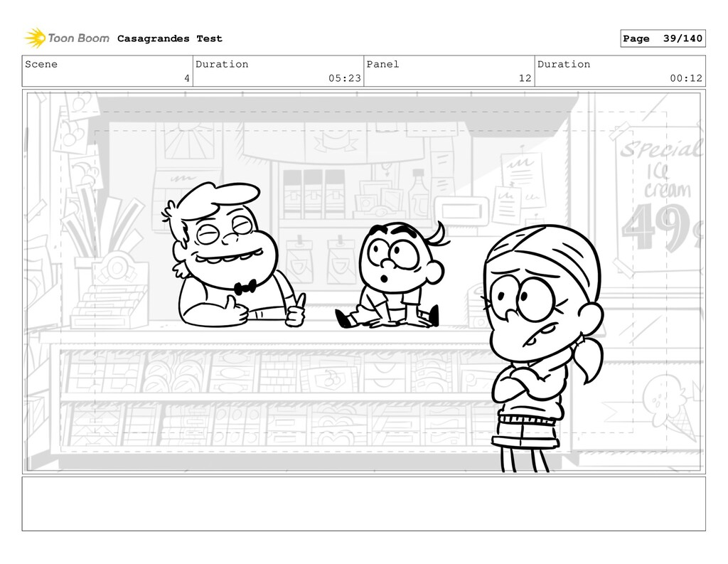 Scene 4 Duration 05:23 Panel 12 Duration 00:12 ...