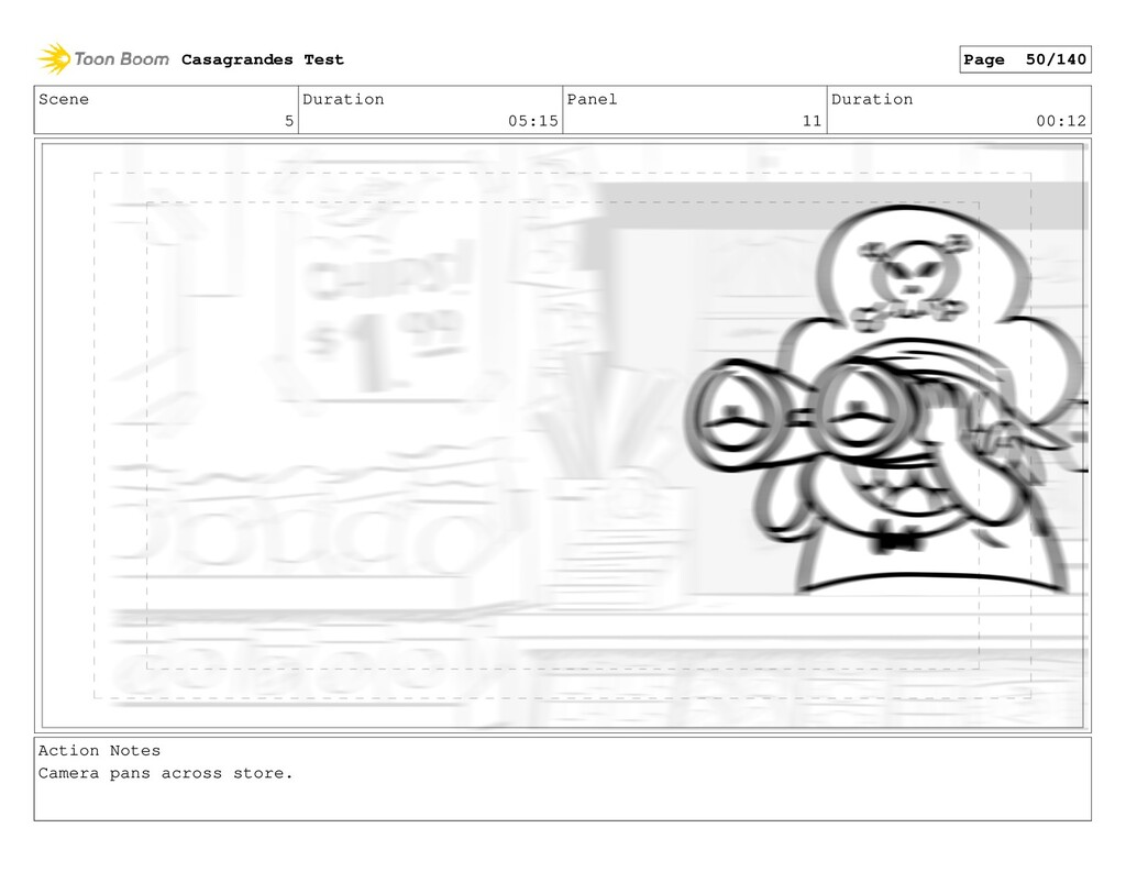 Scene 5 Duration 05:15 Panel 11 Duration 00:12 ...