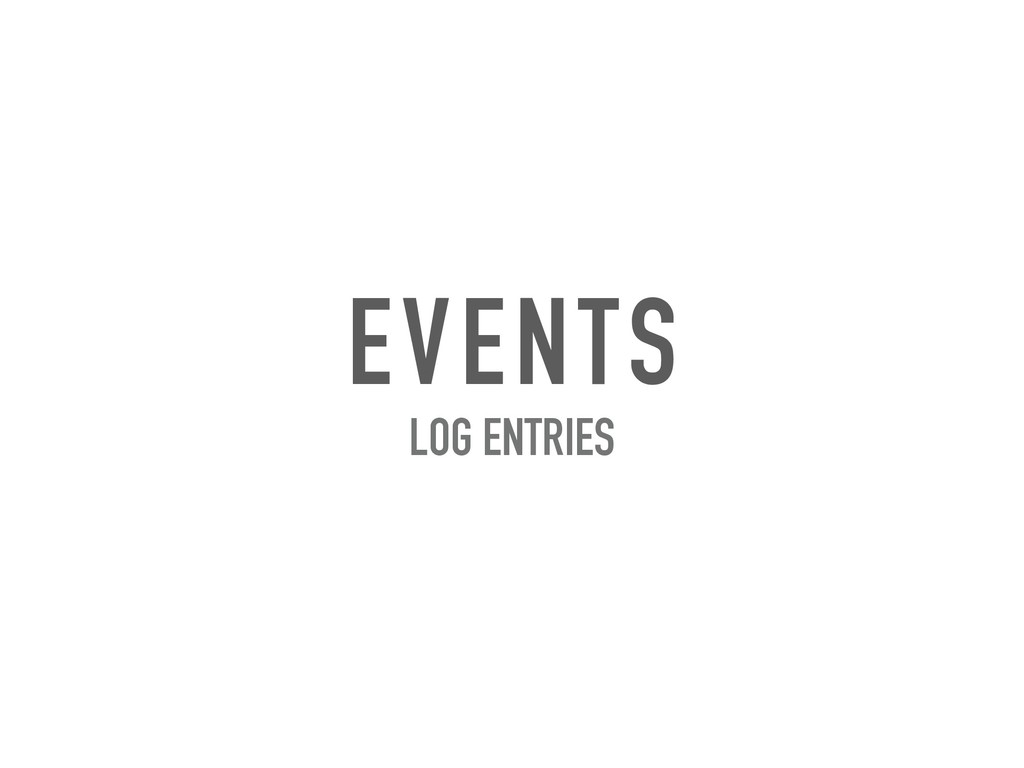 EVENTS LOG ENTRIES