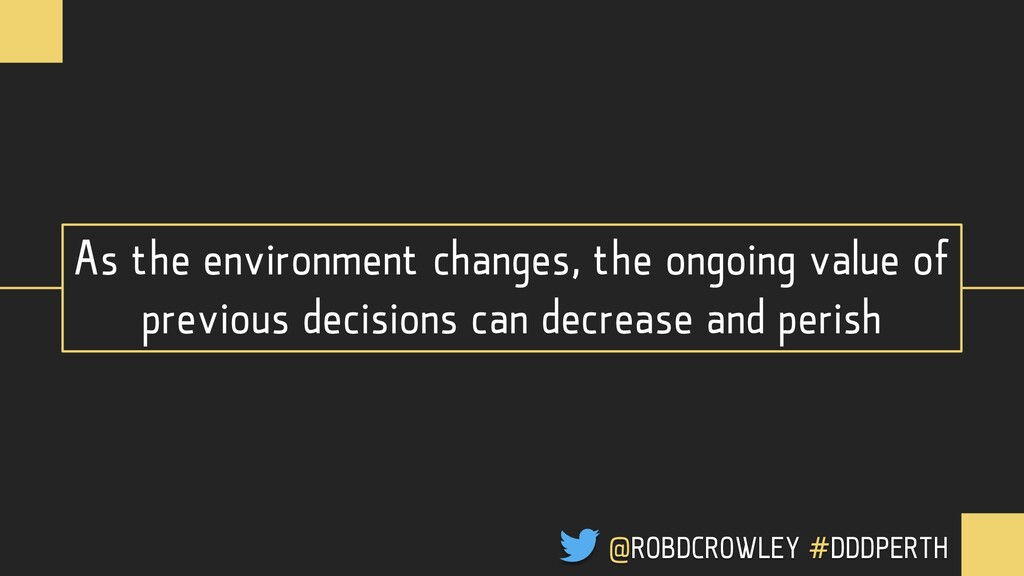 As the environment changes, the ongoing value o...