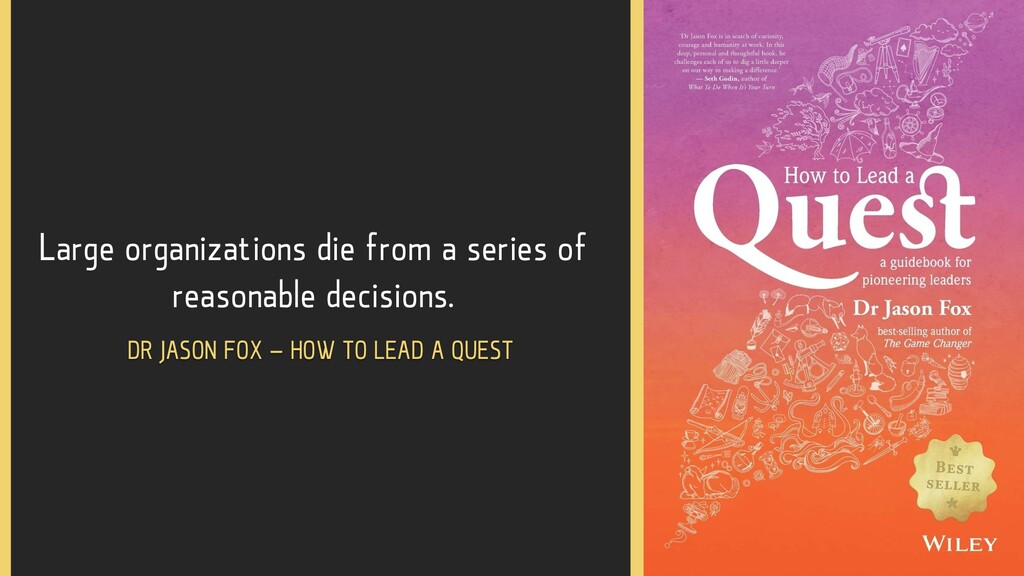 Large organizations die from a series of reason...