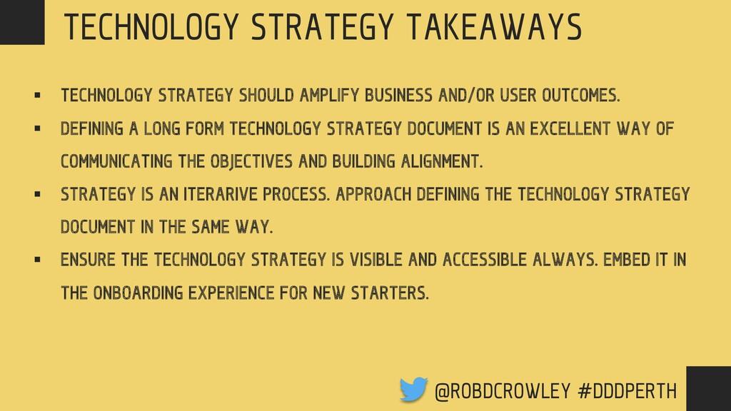 TECHNOLOGY STRATEGY § TECHNOLOGY STRATEGY SHOUL...