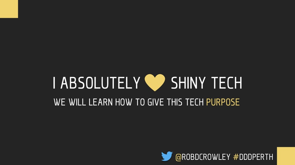 I ABSOLUTELY SHINY TECH @ROBDCROWLEY #CONFOO WE...