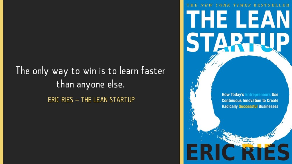 The only way to win is to learn faster than any...