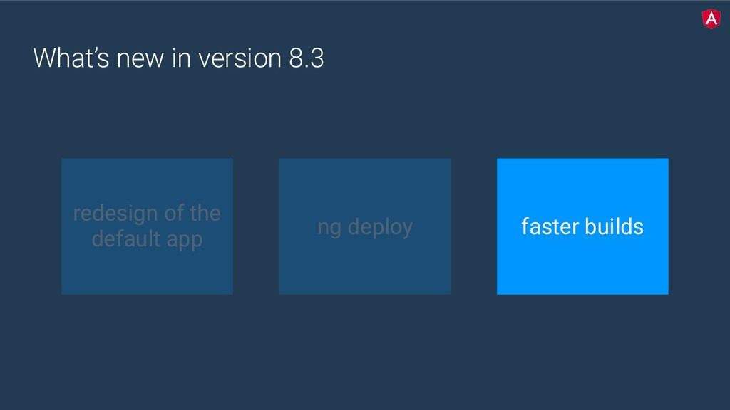 What's new in version 8.3 redesign of the defau...