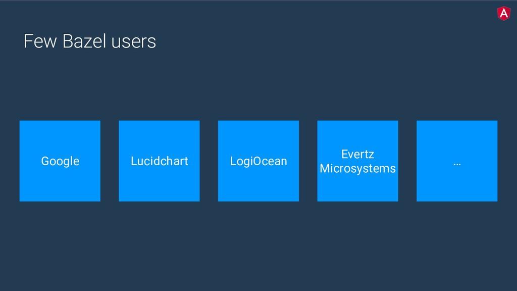 Few Bazel users Google Lucidchart LogiOcean Eve...