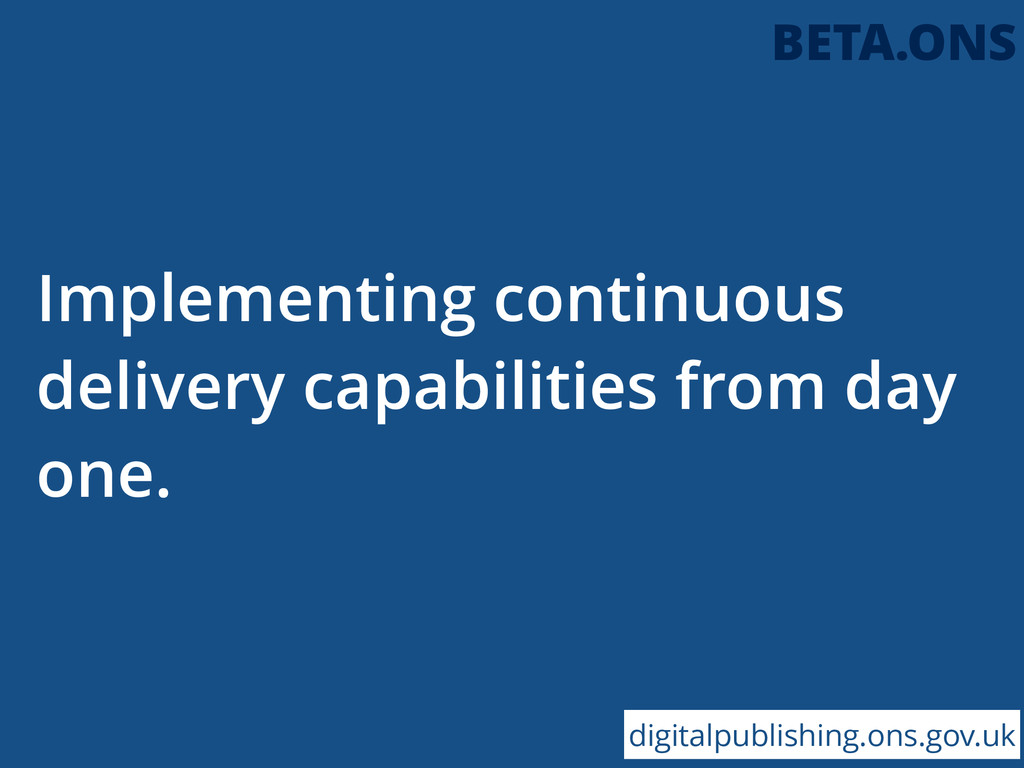 Implementing continuous delivery capabilities f...