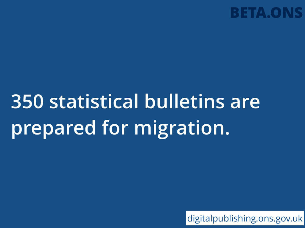 350 statistical bulletins are prepared for migr...